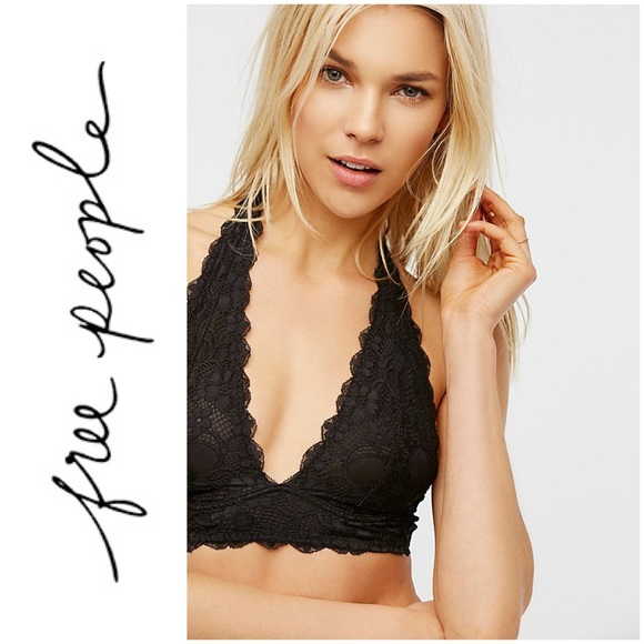 Free People Other - Intimately Free People Galloon Halter Bralette L